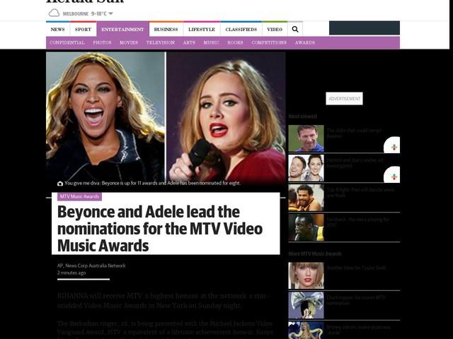 Divas battle for top MTV honours