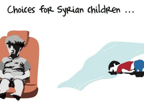 'Choices of Syrian children' cartoon: Khalid Albaih's illustration shows heartbreaking reality of Syrian crisis