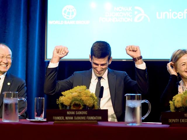 Novak Djokovic ambassadeur de l'UNICEF