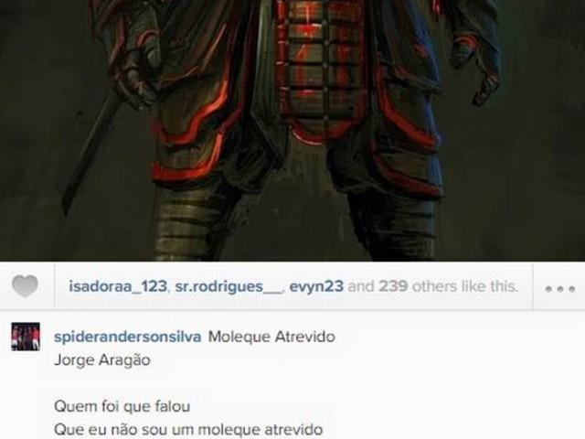 Anderson Silva posta música de Jorge Aragão e presta homenagem a 'responsáveis pela evolução do MMA'