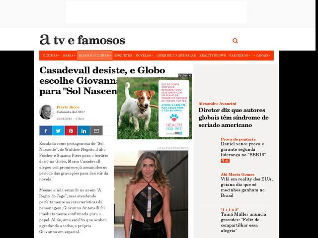 """Casadevall desiste, e Globo escolhe Giovanna Antonelli para """"Sol Nascente"""""""