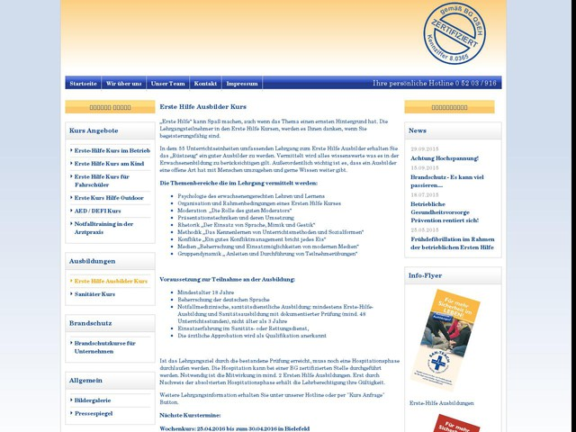 SAN-TEACH: Erste Hilfe Ausbilder Kurs
