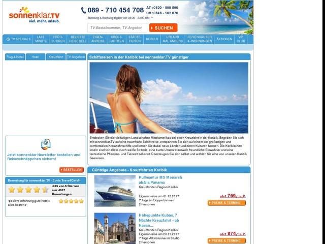 Karibik Kreuzfahrt mit Flug bei sonnenklar.TV - Schiffsreisen Karibik günstig buchen