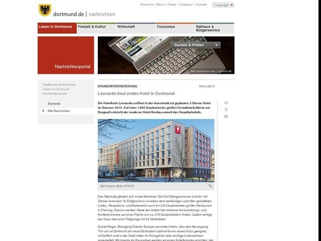 Standorterweiterung: Leonardo baut erstes Hotel in Dortmund