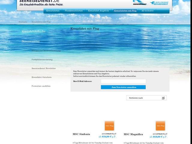 Kreuzfahrt mit Flug online buchen bei seereisedienst.de