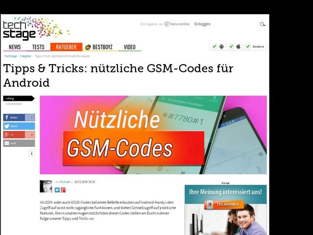 Tipps & Tricks: nützliche GSM-Codes für Android