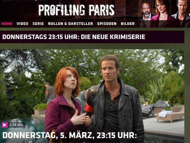 TF1 communique sur le succès de Profilage en Allemagne.