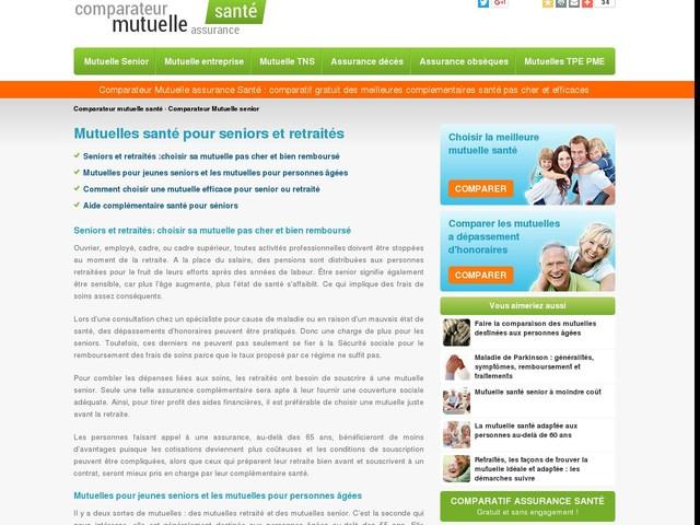 Mutuelle senior : Comparateur de mutuelle santé