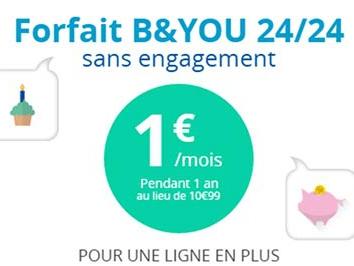 Fin de promotion le 20 juin sur le forfait illimité B&YOU à 1€