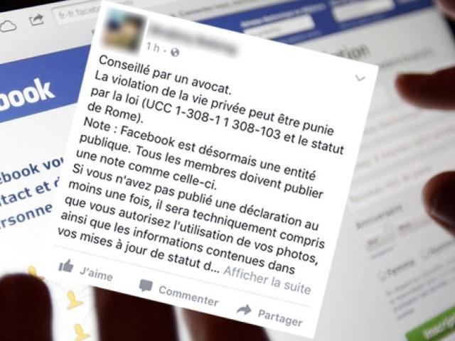 """Facebook. Partager le message """"Conseillé par un avocat"""" ne sert à rien"""