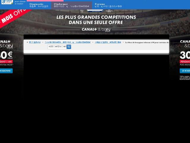 La Bbox de Bouygues Telecom à 0€ pour certains de ses clients mobiles... très fidèles