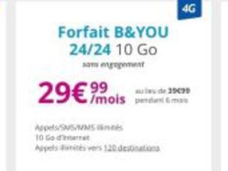 Promos forfaits : BAndYou 3 Go à 9,99 euros et petit forfait data chez RED