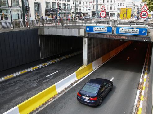"""Le gouvernement bruxellois envisage de fermer définitivement plusieurs tunnels: """"C'est la politique du couperet"""""""