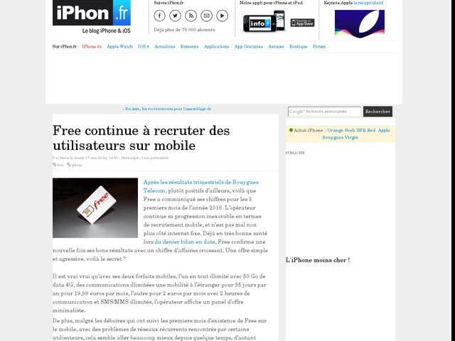 Sfr Mobile Forfait Iphone