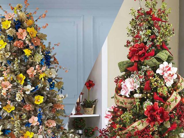 25 sapins de Noël originaux qui arborent de sublimes parures florales
