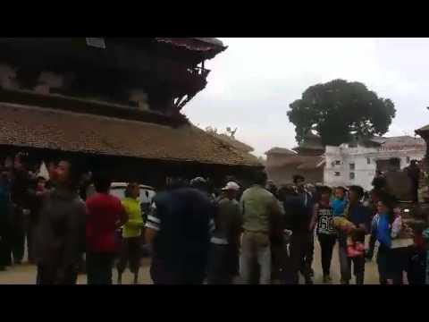 Le centre historique de Katmandou ravagé par un séisme