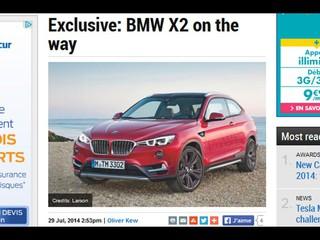 Après les X4 et X6, BMW pense au X2