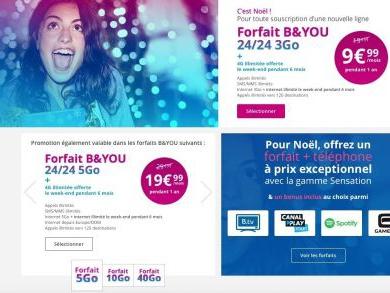 Récap. promos forfaits : offres Noël chez BandYou et nouvelles promos SFR