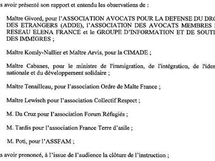 Commentaires sur Conclusions : Respect toujours bouté de rétention; FTDA, Forum réfugiés, Assfam et Ordre de Malte feraient leur entrée en concurrence avec la Cimade (Lundi 12 octobre, 14h, Conseil d'Etat) par CREDIT OUEST FRANCE