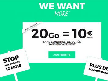 Plus que quelques heures pour souscrire un forfait 20Go RED ou B&You à 10 euros !