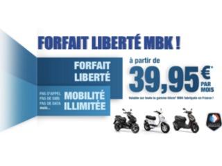 MBK forfait liberté : un scoot, pour le prix d'un forfait téléphone