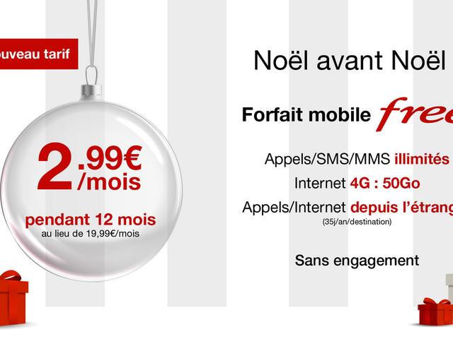 Free Mobile : l'offre 50 Go à 2,99 €/mois est prolongée… à nouveau