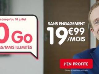 Forfait 50 Go en série limitée à 19,99 euros mensuels chez NRJ mobile