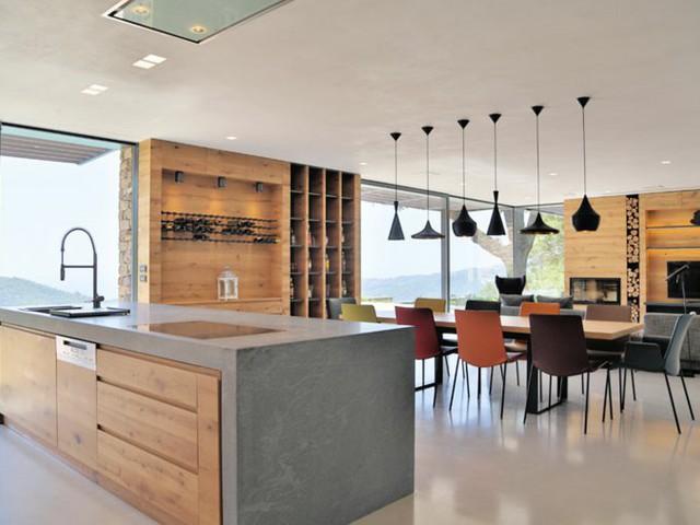 Chelle bois d co 50 id es cr atives pour votre int rieur - Maison en pierre giordano hadamik architects ...