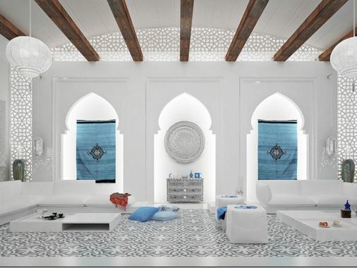 salon moderne oriental d inspiration marocaine autre. Black Bedroom Furniture Sets. Home Design Ideas