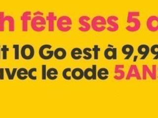 Promo forfait : le 10 Go Sosh à 10 euros pour quelques jours