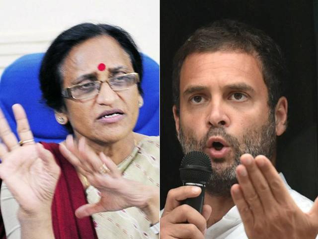 Rita Joshi slams Rahul, says 'party given on contract to Prashant Kishor'