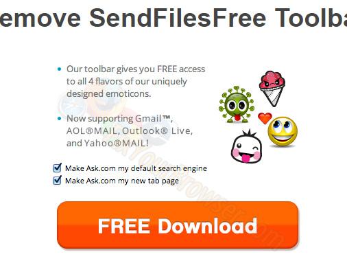 Come rimuovere SendFilesFree Toolbar