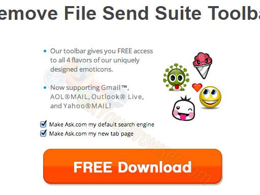 Come rimuovere File Send Suite Toolbar