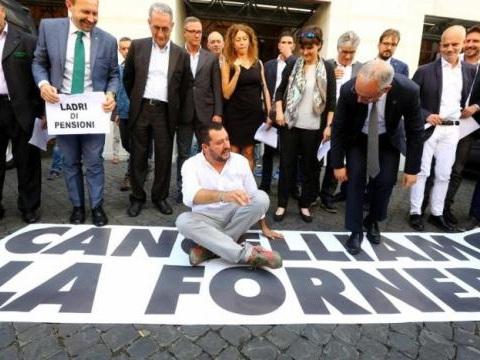 Pensioni e Esodati, sindacati e Salvini davanti al MEF: 'Mancano 500 milioni al Fondo'