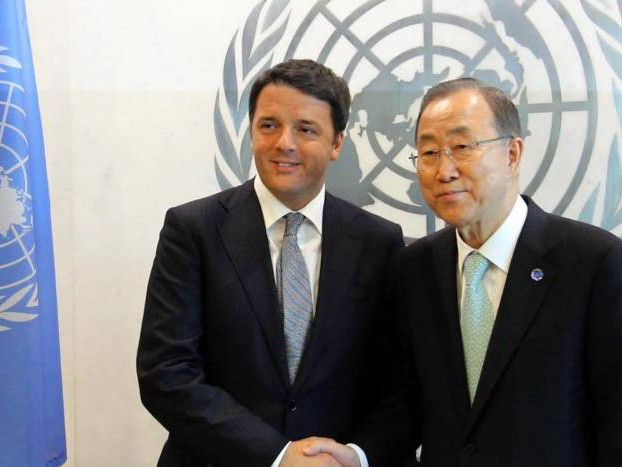 """Immigrazione. Incontro Renzi-Ban Ki-Moon: """"La priorità è salvare le vite"""""""