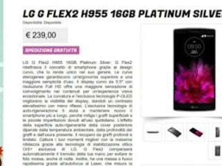 Offerta Glistockisti.it: LG G Flex 2 a 239 euro