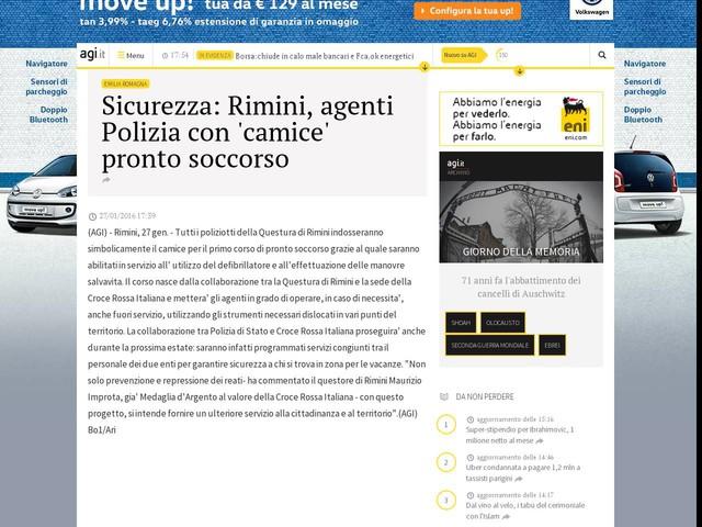 Sicurezza: Rimini, agenti Polizia con 'camice' pronto soccorso
