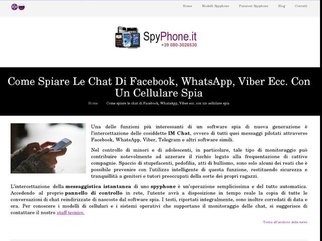 Come spiare le chat di Facebook, WhatsApp, Viber ecc. con un cellulare spia -