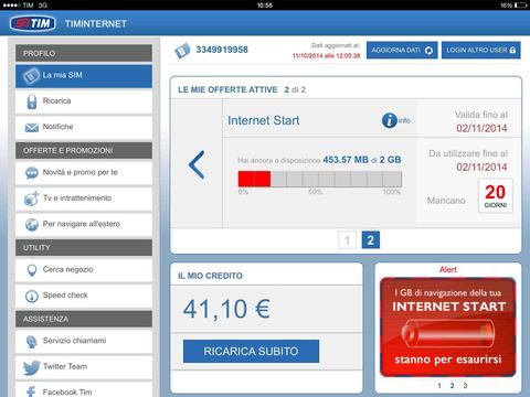L'app TIM Internet