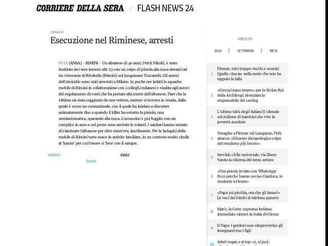 Esecuzione nel Riminese, arresti