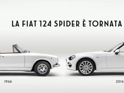 Canzone pubblicità Fiat 124 spider 2016