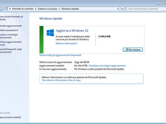 Windows 10 si scarica in automatico su tutti i PC
