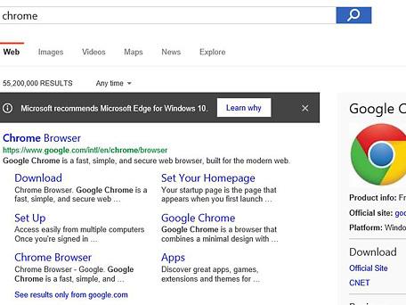 Microsoft contro Chrome e Firefox