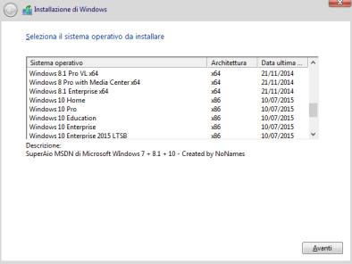 Windows 7 + 8.1 + 10 All-In-One (31 in 1) Ita: Tutto in un'unica ISO