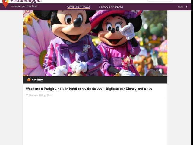 Weekend a Parigi: 3 notti in hotel con volo da 93€ + Biglietto per Disneyland a 47€