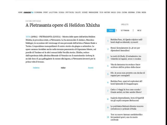 A Pietrasanta opere di Helidon Xhixha