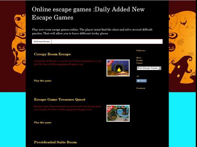 new escape games online