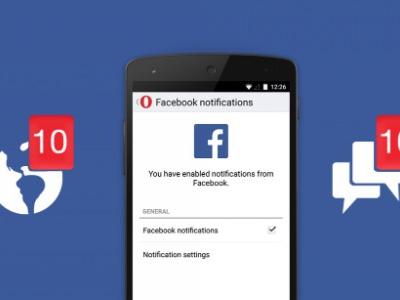 Opera Mini si aggiorna aggiungendo il supporto alle notifiche di Facebook