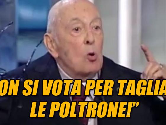 Napolitano sbugiarda Renzi: non si vota per tagliare le poltrone #GrazieGiorgio