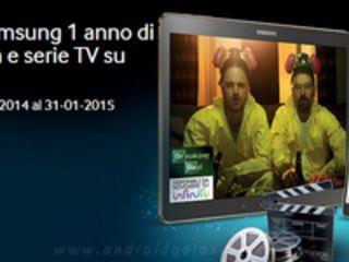Promozione Samsung: 1 anno di film gratis su Infinity per chi acquista un Tab S o Tab Pro
